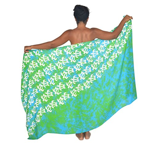 Turtle Petroglyph Hawaii Sarong Pareo BeachWrap Swimsuit Coverup
