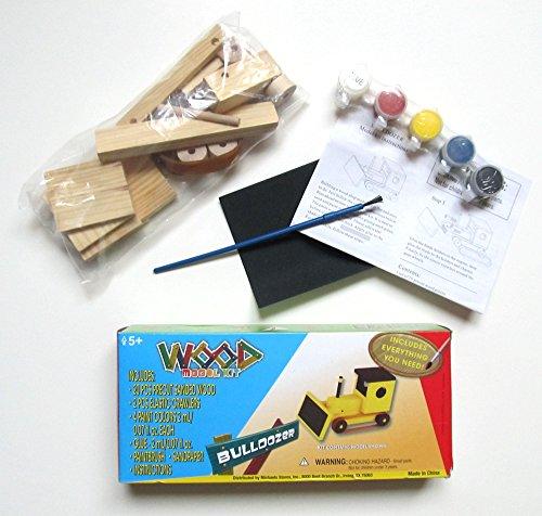 Bulldozer Wood Model Kit
