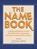 The Name Book, Michael Cader, 0517162172