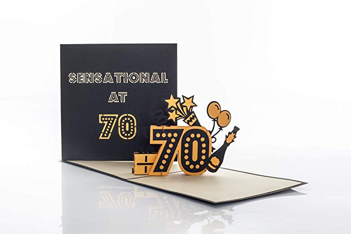 70th Birthday Card For Women And Men