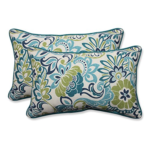 Pillow Perfect Outdoor/Indoor Zoe Mallard Rectangular Throw Pillow (Set of 2) (Rectangular Pillows Outdoor)