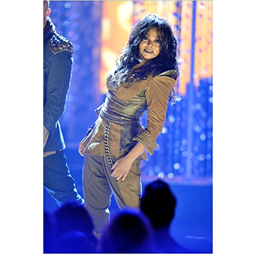 Janet Jackson in concert leaning to side 8 x 10 Inch Photo