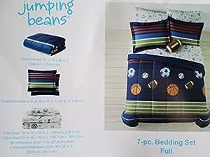 Kids Bedding Mvp Sports Boys Baseball, Basketball, Football Full Comforter Set (7 Piece Bed in a Bag)