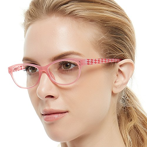 OCCI CHIARI Lightweight Designer Acetate frame Stylish Pink Reading Glasses For Women
