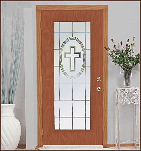 (41cm x 190cm)Faith 41cm x 190cm Clear Etched Glass Window Film B00487H7OI 16