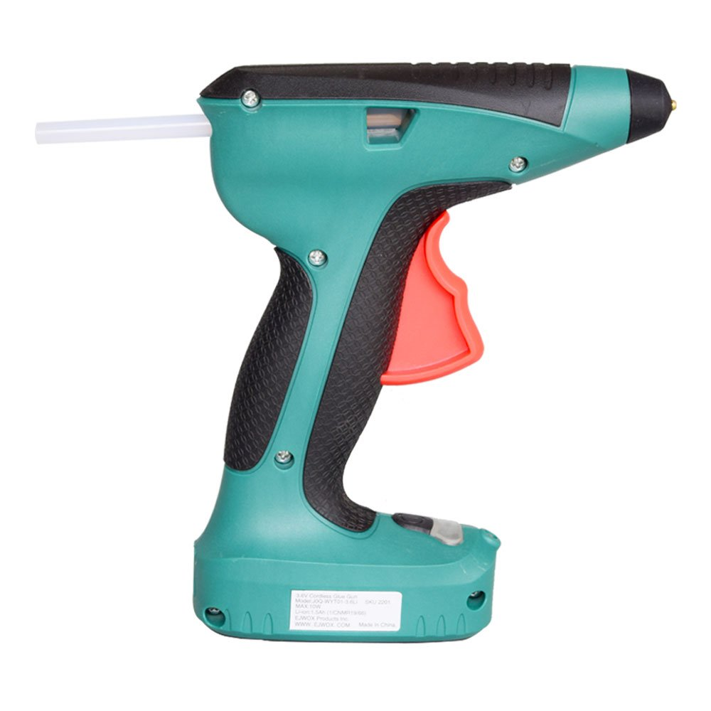 Glue Gun 3.6V Cordless Glue Gun with 15s Heating Automatic Glue Retraction Mechanism for Quick Repairs Industrial, Home, Arts, DIY Crafts and Sealing