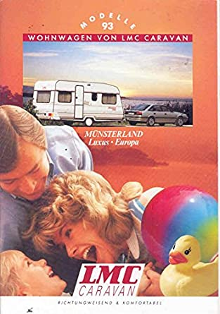 Amazon com: 1993 LMC Munsterland Travel Trailer Brochure German