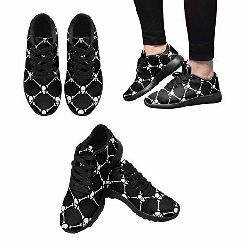 Interestprint Femmes Jogging Running Sneaker Léger Aller Confort De Marche Facile Sport Chaussures De Sport Jour De Larrière-plan Multi Mort 1