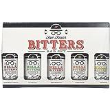 Hella Five Flavor Bitters Bar Set: Aromatic, Citrus, Smoked Chili, Ginger Orange Bitters, All Natural, Gluten Free, Vegan, 1.7oz, 5-Bottle Set