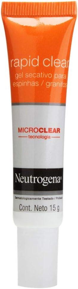 Gel Secativo Rapid Clear Facial, Neutrogena, 15g Marca: Neutrogena