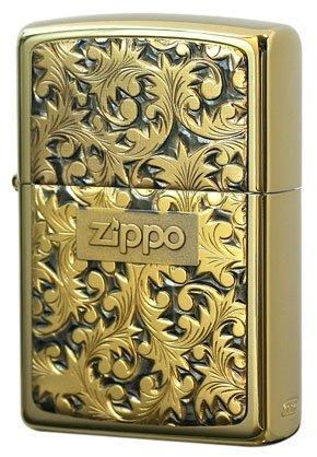 Zippo JapanModel Sterling silver plate uArabesquev Gold titanium #K-2 ()