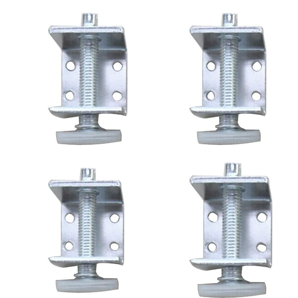 Eyech 4 Pack U-Bracket Levelers Heavy-Duty Furniture Leg Leveler, Adjustable Leveler Pads for Table Chair Sofa Cabinet