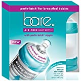 Baby Bottle - Bare Air-Free Feeding System, Perfe-Latch Nipple For Breastfed Babies - 4oz. Twin Pack