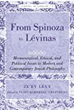 img - for From Spinoza to L vinas: Hermeneutical, Ethical, and Political Issues in Modern and Contemporary Jewish Philosophy- Edited by Yudit Kornberg Greenberg (Studies in Judaism) book / textbook / text book