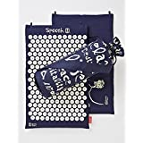 Spoonk COTTON Acupressure Mat -- w. Bag--DR OZ BEST ADVICE EVER! Oprah O list 2013 - FREE SHIPPING! (Navy Blue)