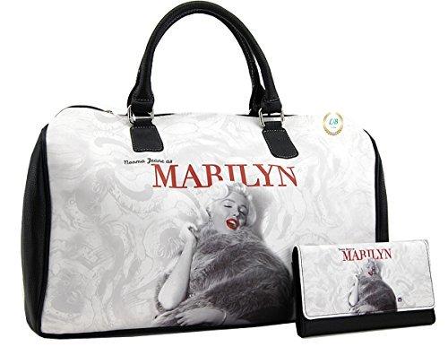 Marilyn Monroe Large Travel Bag and Wallet Set, Norma Jeane as Marilyn, MM9123-SET (Marilyn Monroe Luggage)