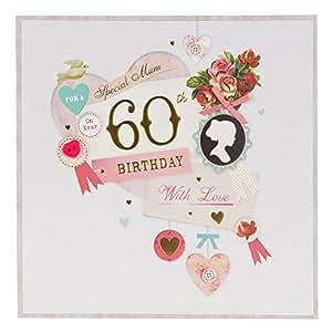 Hallmark - Tarjeta de felicitación (tamaño grande), diseño de 60 cumpleaños