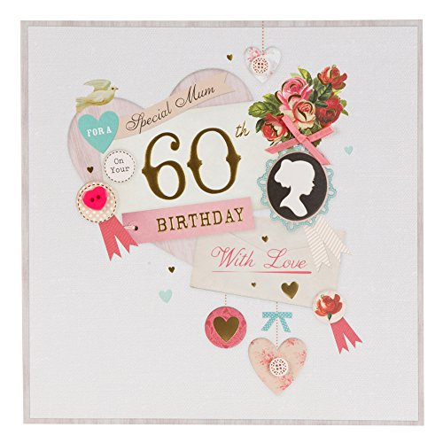 Hallmark 60th birthday card for mum something to celebrate large hallmark 60th birthday card for mum something to celebrate large square amazon office products bookmarktalkfo Choice Image