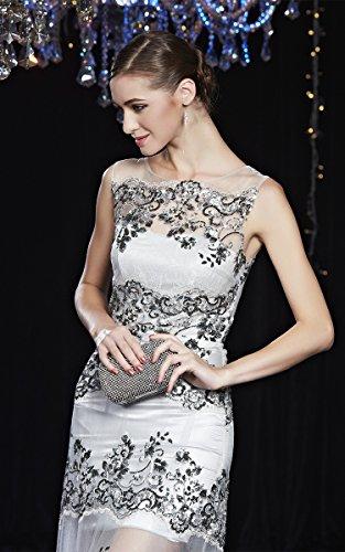 Kleider Abend Spitze Beauty Emily Grau Pailletten Ansatz O Applikationen Bloße Ohne Arm Sw1wAq6ng