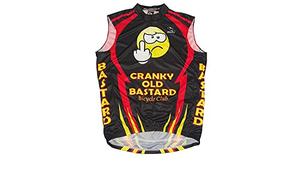 d9789cac4 Amazon.com   Suarez Cranky Old Bastard Cycling Team Mens Bicycle Jersey Red  Black Yellow Mens Sleeveless   Sports   Outdoors