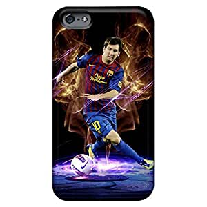 Hot phone case skin Protective Stylish Cases covers iphone 6plus 6p - the forward of barcelona lionel messi in dark background