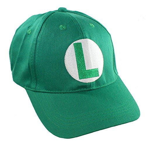 Luigi  Mario Bros Hat - Baseball Cap for Kids - Great for Cosplays and Halloween -