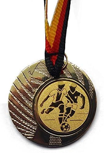 Medaillen-Band Farbe: Gold Tischtennis aus Stahl 40mm inkl Turnier - mit einem Emblem Medaille Fanshop L/ünen Medaillen e262 TT