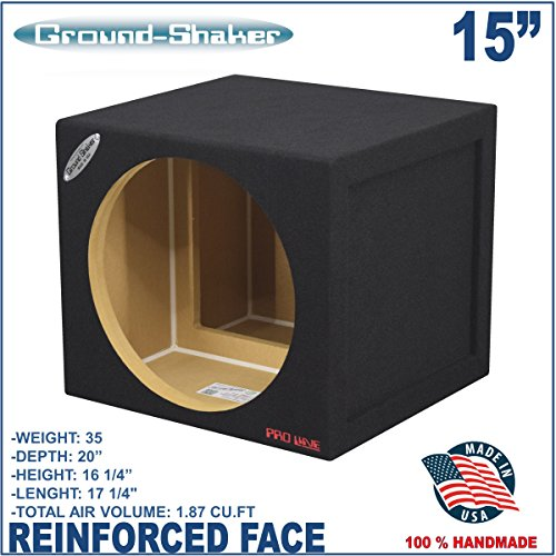 "15"" Single Sealed Sub Box Pro Loud Bass MDF Reinforced Subwoofer Enclosure"