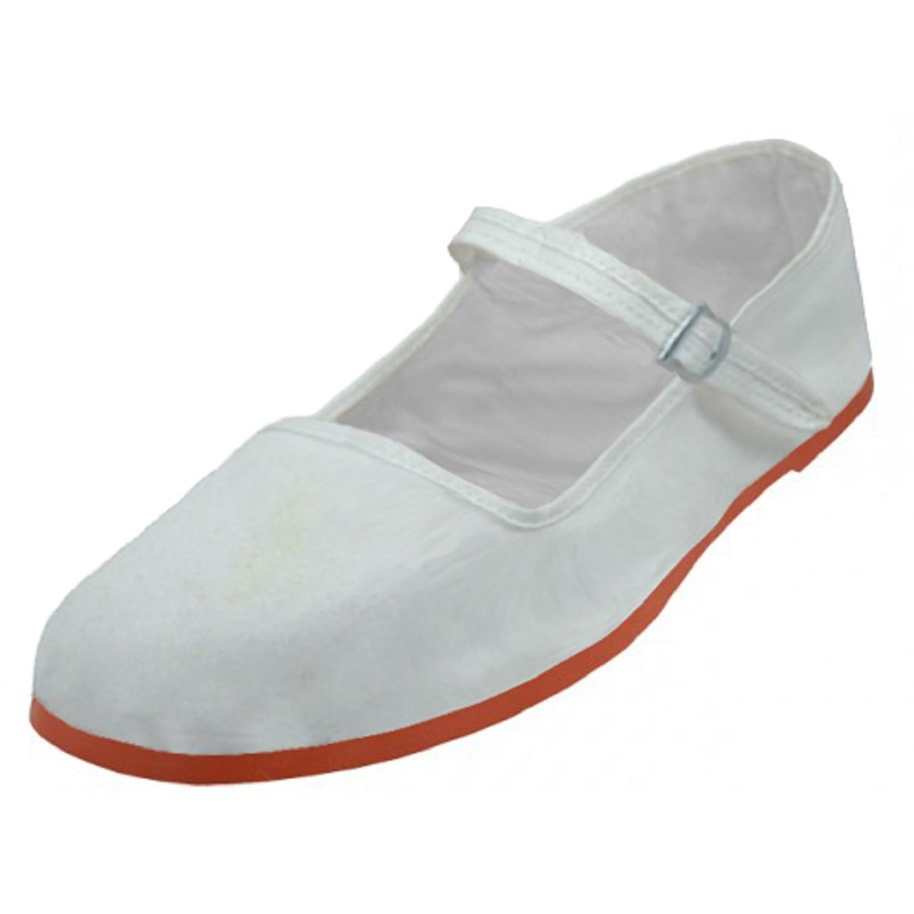 Cottagecore Clothing, Soft Aesthetic Shoes 18 Womens Cotton China Doll Mary Jane Shoes Ballerina Ballet Flats Shoes $12.99 AT vintagedancer.com