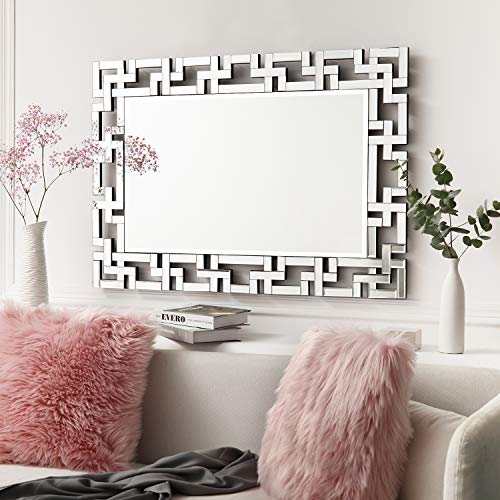 """Art Decorative Wall Mirrors Large Grecian Venetian Mirror for Hotel Home Vanity Sliver Mirror (27.5"""" W x39.5 H)"""