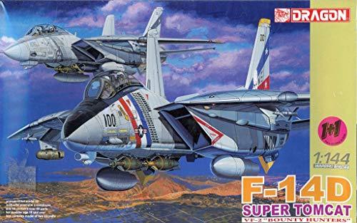 DML Dragon1:144 F-14D Super Tomcat VF-2 Bounty Hunters Plastic Model Kit -