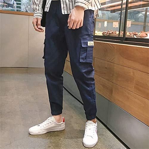 Homme Casual Bleu Respirant Sport Elastique Pantalon Vetement Taille Jeans Haute Skinny Jogging Long Mince Pants H77qUwdTx
