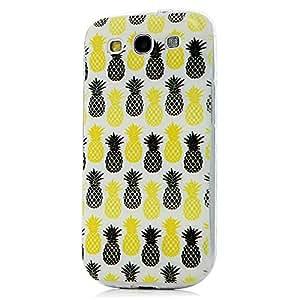 BestCool 1x Funda blanda Case TPU Case Cover para Samsung Galaxy S3 i9300 de Carcasas Cubierta TPU Suave Estilo Patrón las Pañas Amarillas Negras Diseño