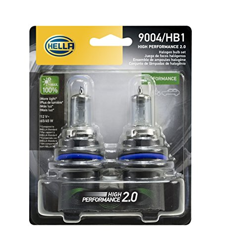 HELLA 2.0TB HP2.0-65/45W High Performance 9004 Bulbs, 12V, 65/45W, 2 Pack