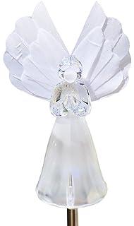 solaration frosty snow white angel garden light fiber optic wing