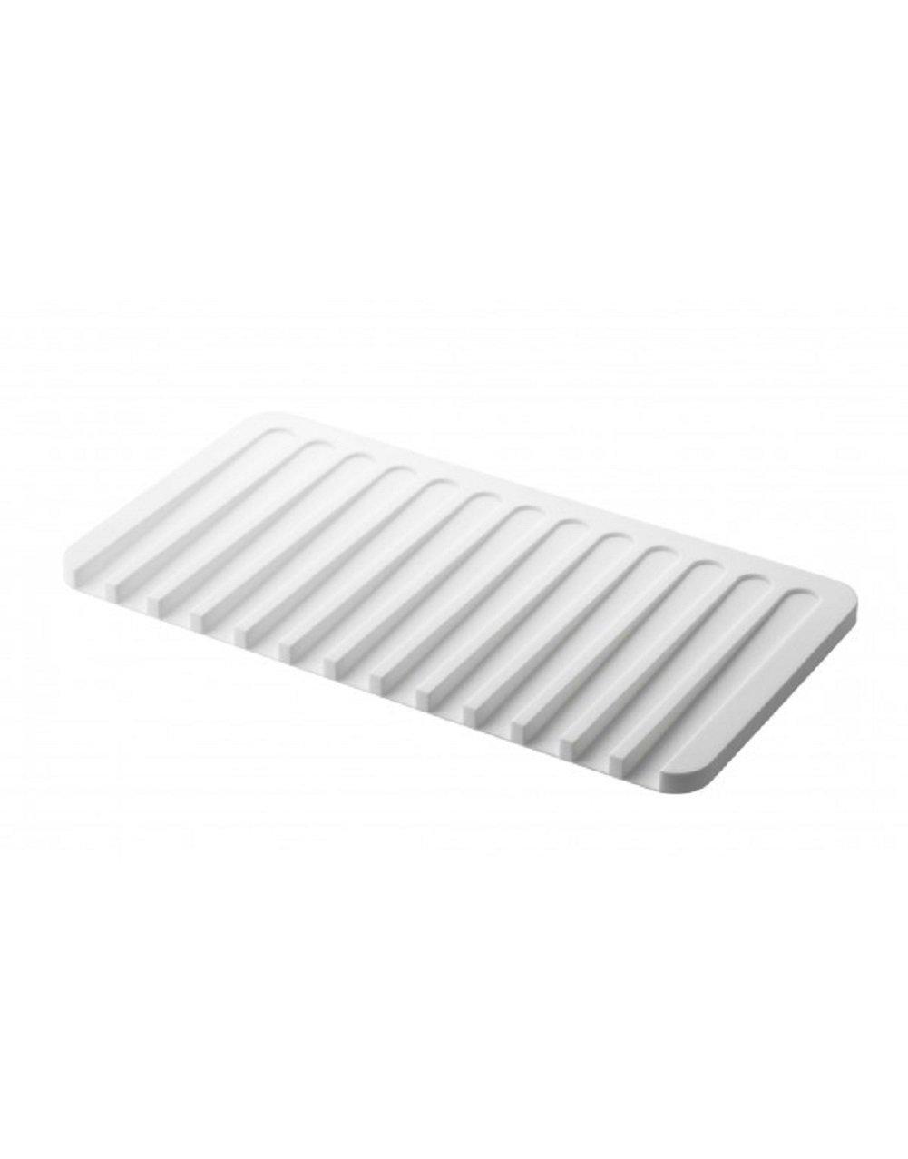 YAMAZAKI home 7395 Flow Soap Tray-Silicone Holder Dish for Sink, White by YAMAZAKI home