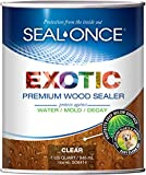 SEAL-ONCE Exotic Premium Wood Sealer, waterproofer & Stain. Enhanced Formula for...