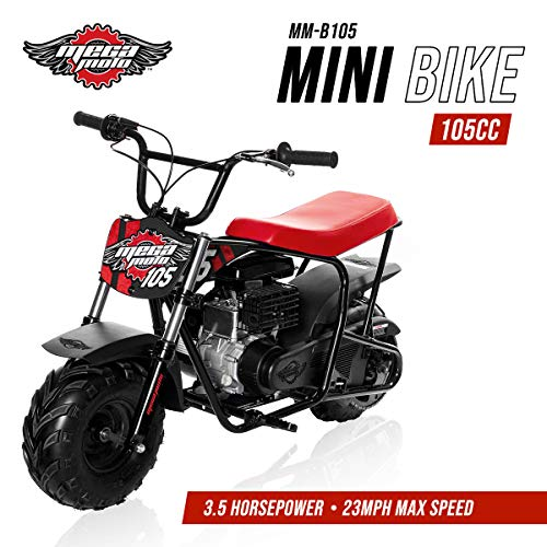 (Mega Moto - Gas Mini Bike - 105CC/3.5HP with Suspension (MM-B105-RBS)(Red))