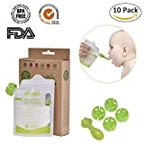 earth juice double up - Ebelbo 10 Pack Baby Food Pouch 6 fl oz Double Zipper Reusable Food Pouch for Homemade Organic Baby Toddlers Food Easy to Fill & Clean