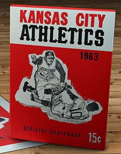 - 1963 Vintage Kansas City Athletics Scorebook - Canvas Gallery Wrap - 11 x 16