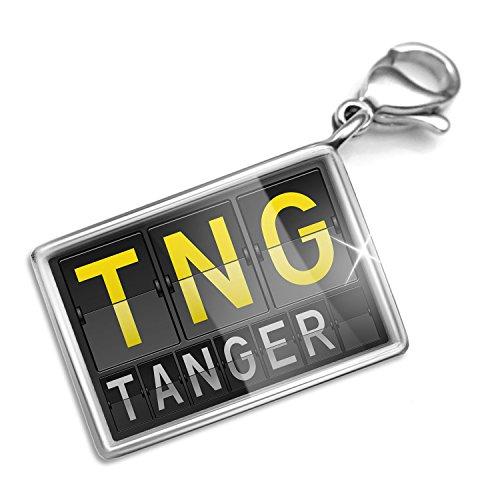 Clip on Charm & Bracelet Set TNG Airport Code for Tanger Lobster - Style Tanger