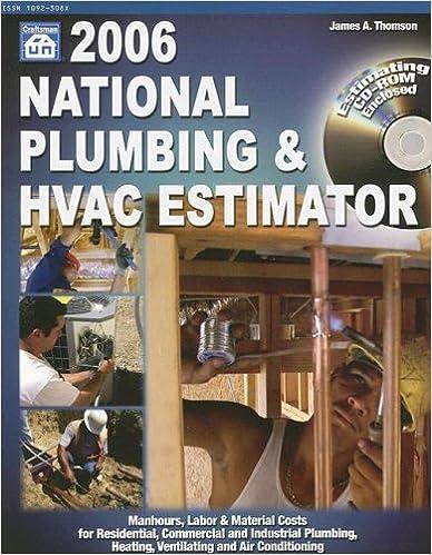 2006 national plumbing hvac estimator national plumbing and hvac estimator. Resume Example. Resume CV Cover Letter