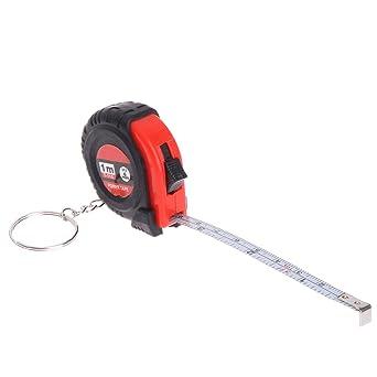Qiulip - Mini cinta métrica con llavero, plástico, portátil ...
