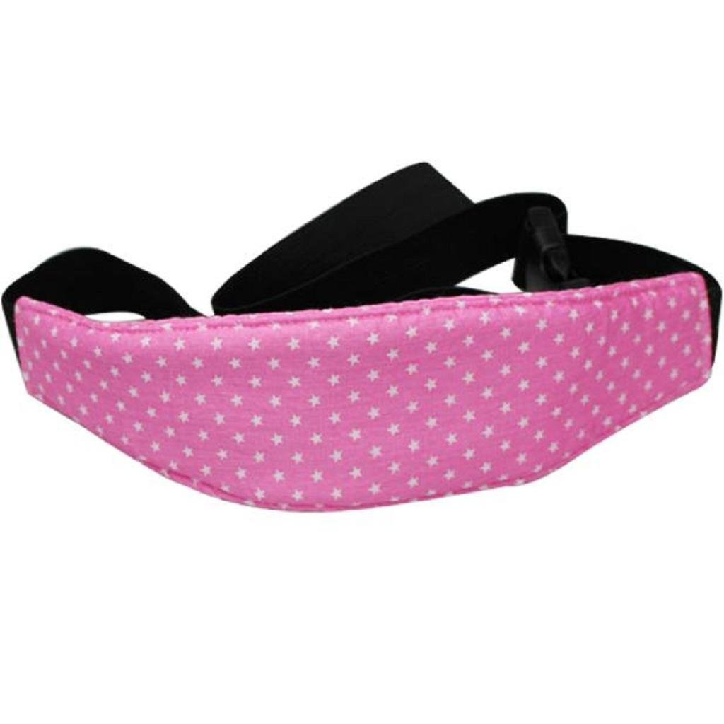 Cinturón de Seguridad de Coche para Niños Sujetadores de Cabeza para Bebés Soporte de Cabeza del Cochecito saisiyiky (Rosa) Sannysis