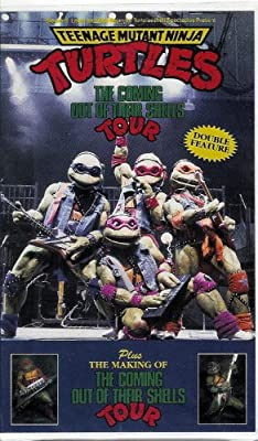 Teenage Mutant Ninja Turtles- The Coming Out Of Their Shells Tour (Plus- The Making of the Coming Out Of Their Shells Tour)(1992 VHS)