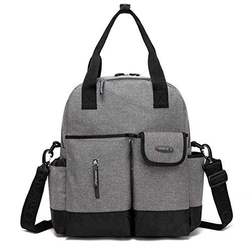 BAIGIO Multifunction Diaper Bag Backpack Comfortable Tote Nursing Bag (Turquoise Zebra Roll)