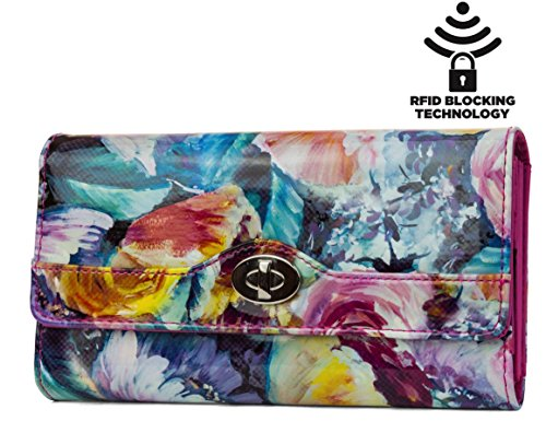mundi-file-master-womens-rfid-blocking-wallet-clutch-organizer-with-change-pocket-midday-bloom