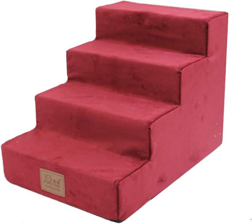 JTQMDD Escalera para Mascotas Casa de Interior Estera para Perro de 4 Capas 54 × 38 × 40 CM Rojo Escaleras de Mascotas (Color : Red): Amazon.es: Hogar