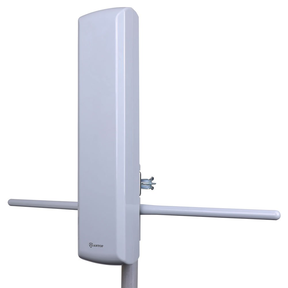 Outdoor HD TV Antenna, ANTOP Flat-panel PL-402VG – 60 Miles Long Range Multi-Directional Reception