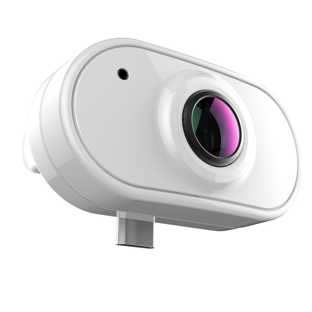 Camdora Smart Panorama Camera 3D Panoramic Point Shoot Digital Video Cameras 360 Degree VR Camera compatible with Android OS Smartphone, Huawei,Samsung - White